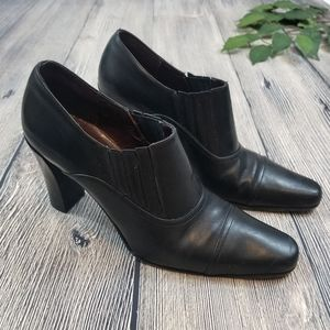 Coach Genna Leather Heeled Ankle Bootie